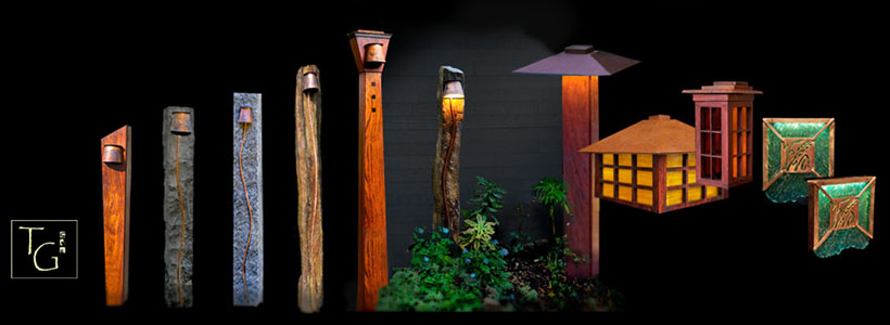 Array of custom outdoor lighting