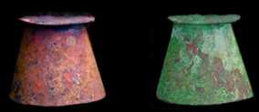 Copper Sconces - Antique Copper and Patina Green
