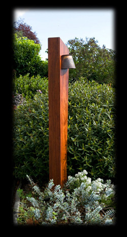 Temple garden outdoor lighting pacific series wood pacific edge pacific edge jatoba post light aloadofball Image collections